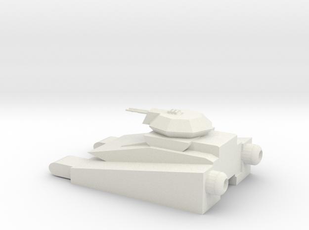 Sci-fi Tank 3 in White Natural Versatile Plastic