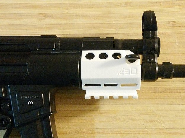 MP5K Vented Hanguard with Bottom Picatinny Rail in Blue Processed Versatile Plastic