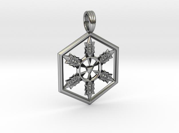VESICA GRIDLOCK in Antique Silver
