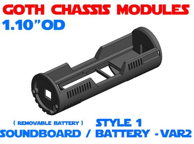 GCM110 - Soundboard Lightsaber Chassis Var2 St1 in White Natural Versatile Plastic