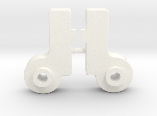 Wild Willy SWB front suspension mounts in White Processed Versatile Plastic