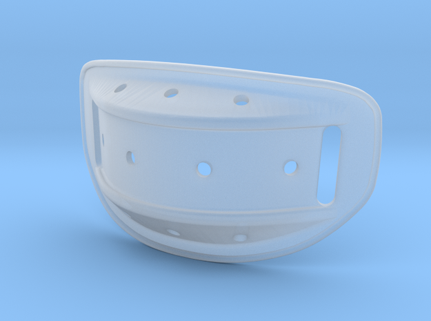 Helmet Chin Cup 1/6th Scale in Smooth Fine Detail Plastic
