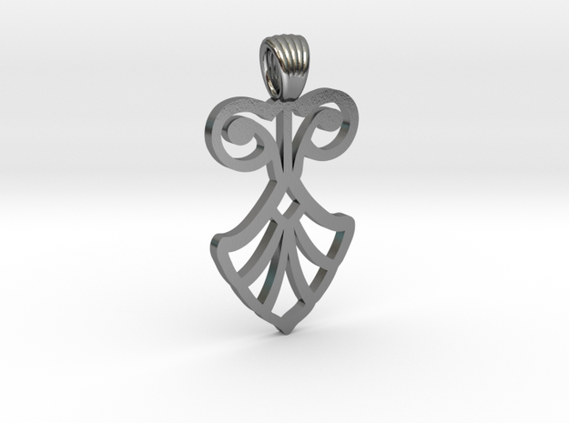 Art Deco Flower [pendant] in Polished Silver