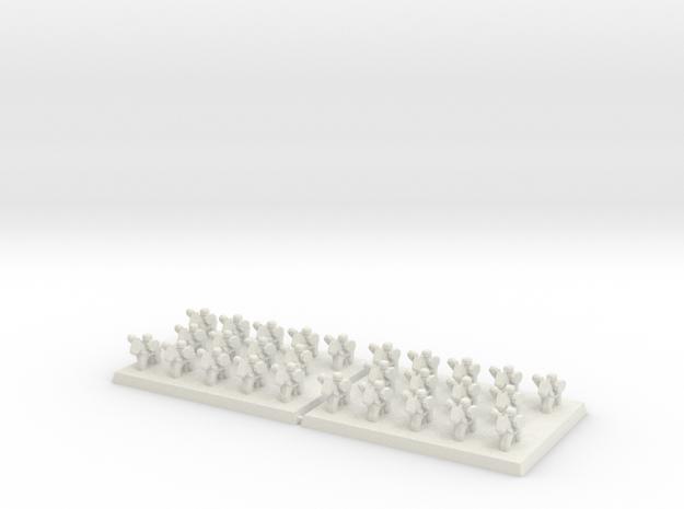 3mm DBA Ligh Cavalry w Spears 40x30mm (x2) in White Natural Versatile Plastic