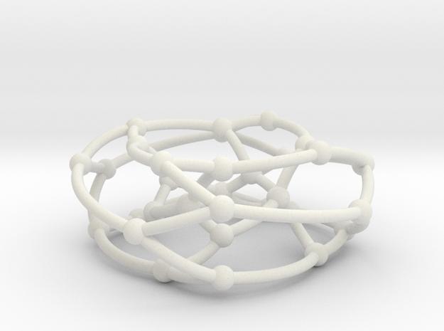 Dyck graph on torus in White Natural Versatile Plastic