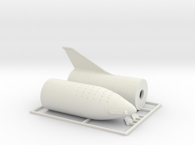 1/400 SpaceX BFR 2018 version in White Natural Versatile Plastic