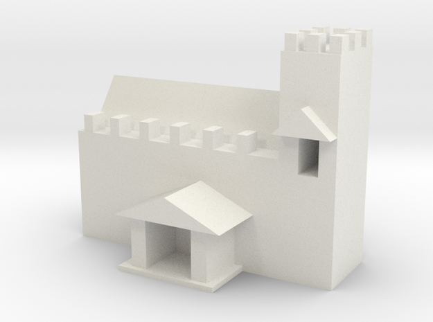 Medieval church in White Natural Versatile Plastic