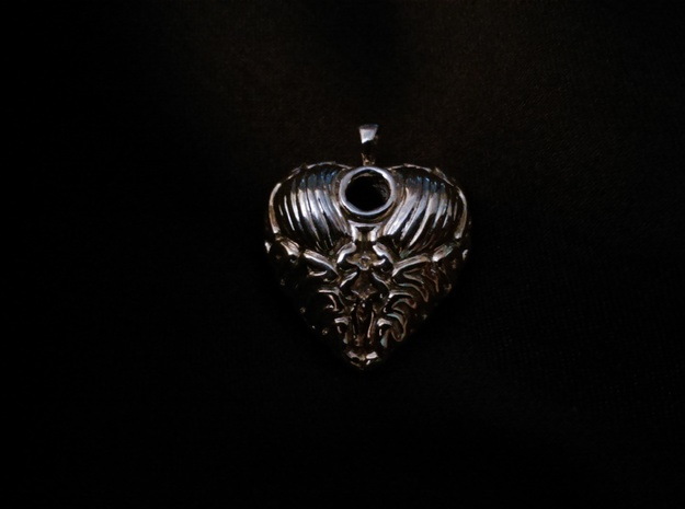 Think With Your Heart Pendant (Hollowed) 3d printed