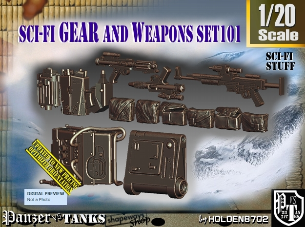 1/20 Sci-Fi Gear and weapons Set101