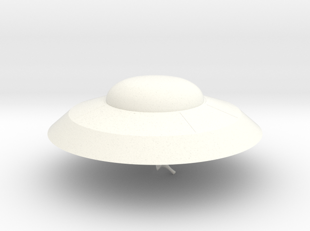 Earth vs The Flying Saucers UFO in White Processed Versatile Plastic