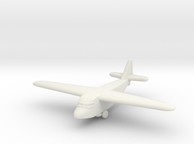 Ku-8 Glider (Japan) in White Natural Versatile Plastic