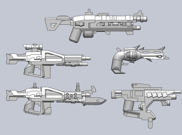 Weapon Pack 3d printed