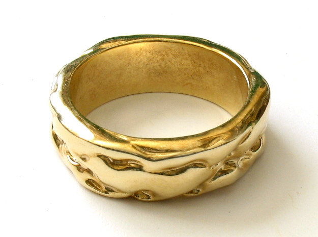Turbulent ring in Polished Brass