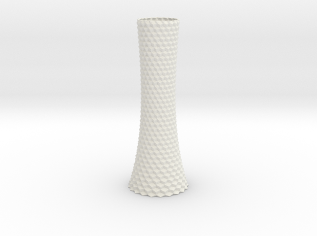 Vase 1004A in White Natural Versatile Plastic