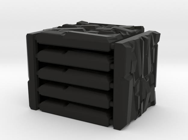 Ancient Stone Set in Black Natural Versatile Plastic