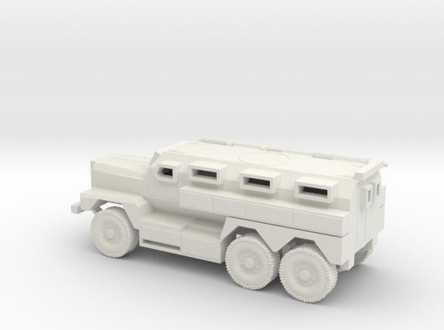 1/87 Scale MRAP Cougar 6x6 in White Natural Versatile Plastic