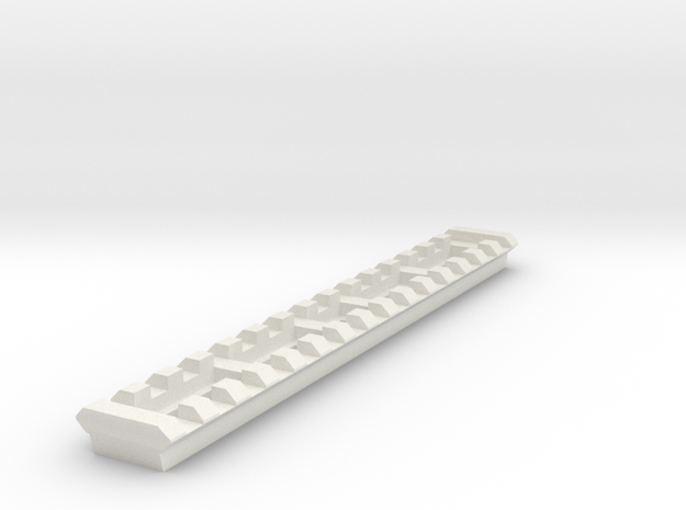 15 Slots Rail (Pre-Drilled) in White Natural Versatile Plastic