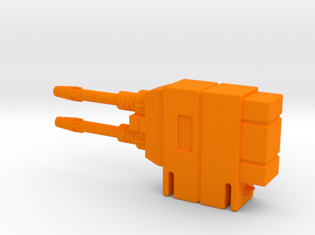 Starcom Shadow Upriser - Big Cannon right side in Orange Processed Versatile Plastic