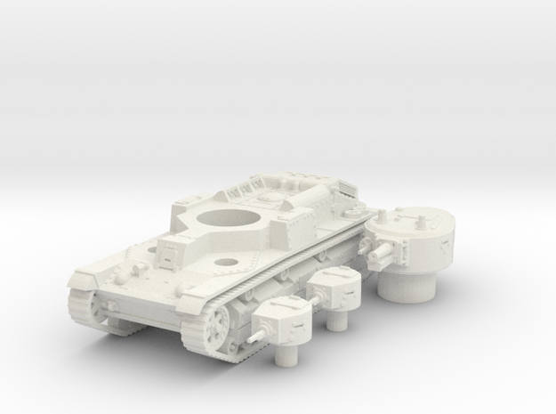 T 28 (early) (hollow) scale 1/87 in White Natural Versatile Plastic