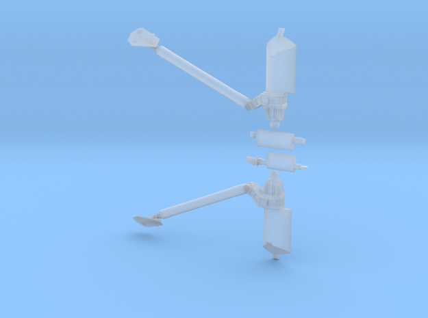 747 SCA mounts - separate lateral stanchions in Smooth Fine Detail Plastic