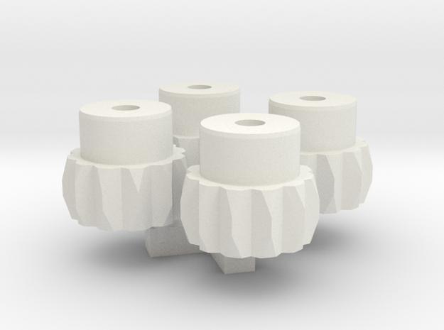 Set Bodenfreiheit Tool Muttern / Nuts  fore ride h in White Natural Versatile Plastic: 1:28