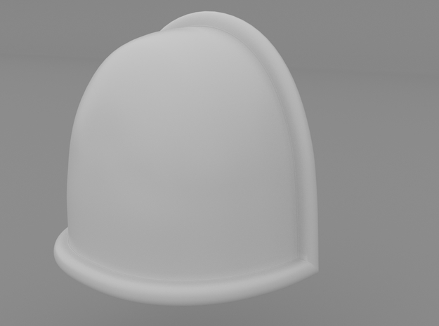 Pauldron_06 in Smooth Fine Detail Plastic