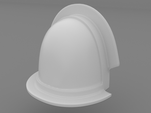 Pauldron_35 in Smooth Fine Detail Plastic