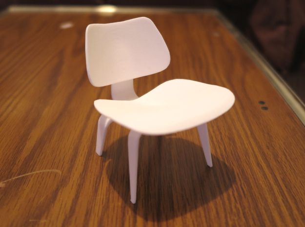 """Herman Miller Eames Molded Plywood Chair 3.1"""" tall in White Processed Versatile Plastic"""