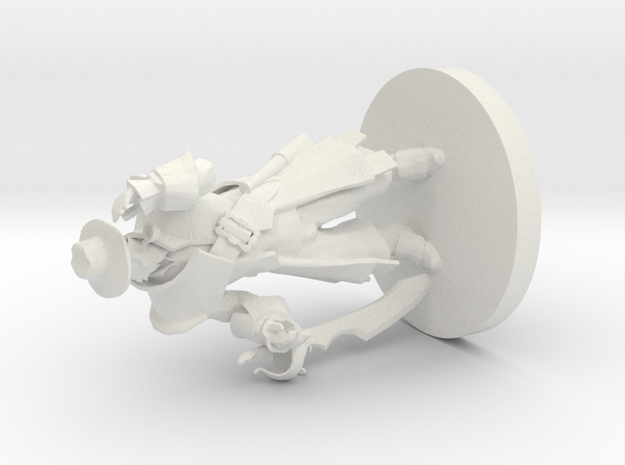 Kunkka Dota 2 3D Print Model in White Natural Versatile Plastic