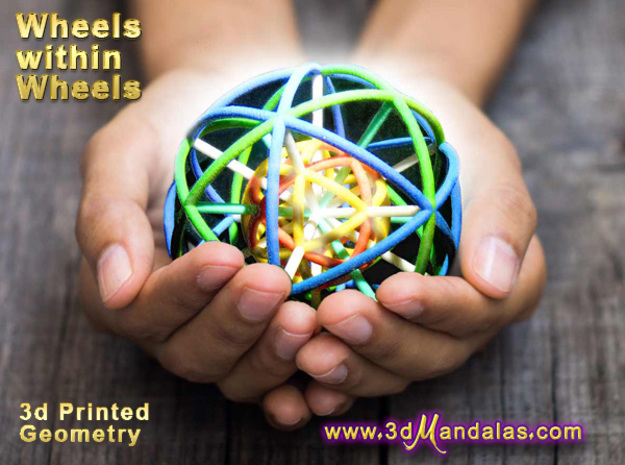 Wheels within Wheels 9 axes 90mm in Full Color Sandstone