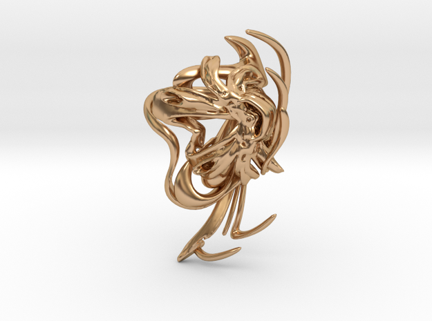 SOMAEXTATIC Large Statement Ring.stl in Polished Bronze