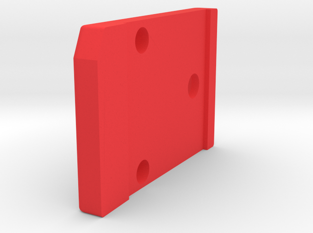 601-602 ver 2.1  blade retainer for plastic holder in Red Processed Versatile Plastic