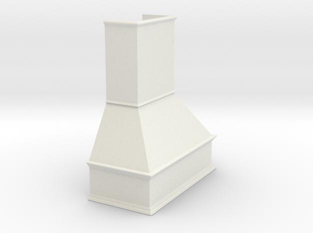 Range Hood in White Natural Versatile Plastic