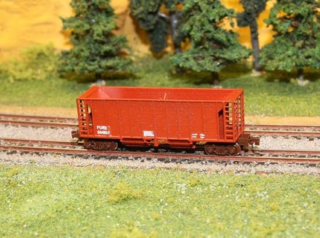 Ballast Hopper Car - Z scale in Smooth Fine Detail Plastic