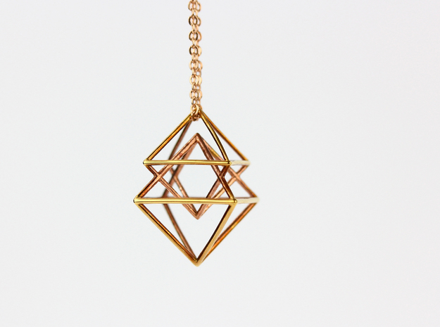 Pyramidal in 14k Rose Gold Plated Brass