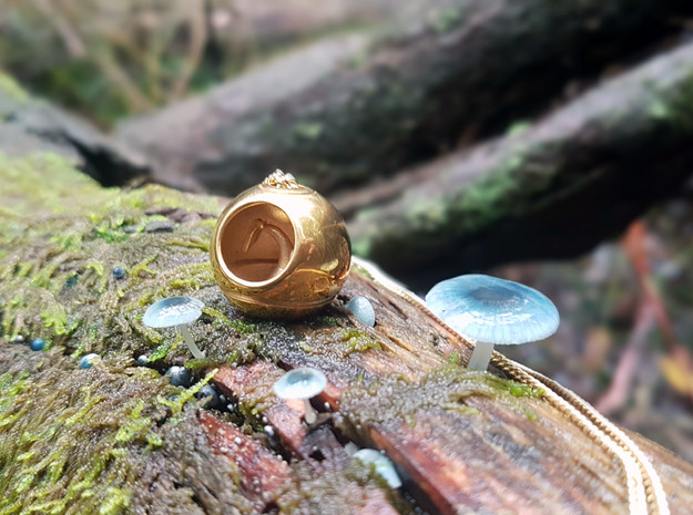 Hidden Tree Pendant- Seed Collection in 18k Gold Plated Brass
