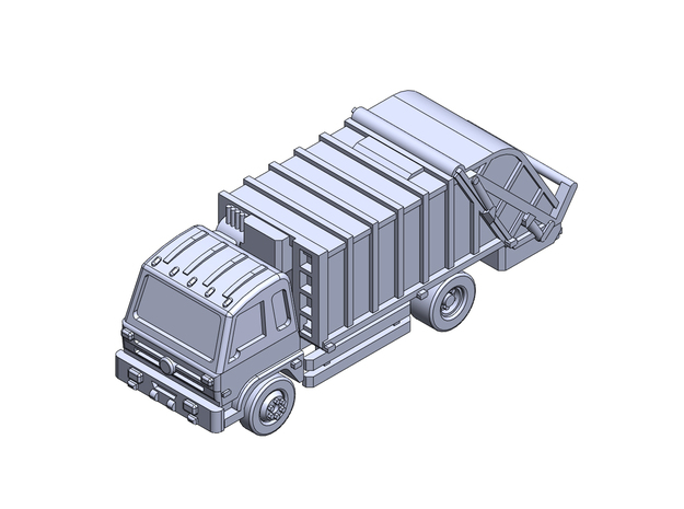 Garbage rear load Dongfeng 16t in Smoothest Fine Detail Plastic: 1:200
