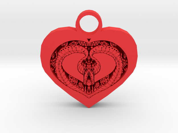 love bug pendant in Red Processed Versatile Plastic