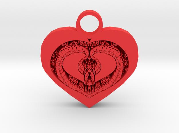 love bug pendant in Red Processed Versatile Plastic