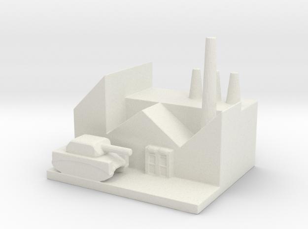 Armor Research Center in White Natural Versatile Plastic