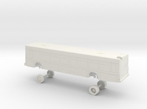 HO Scale Bus Gillig Low Floor DART 200s in White Natural Versatile Plastic