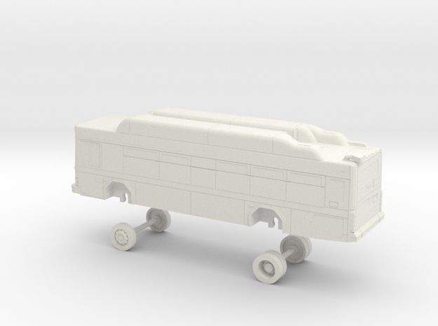 HO Scale Bus Gillig Low Floor Placer County 1700s in White Natural Versatile Plastic