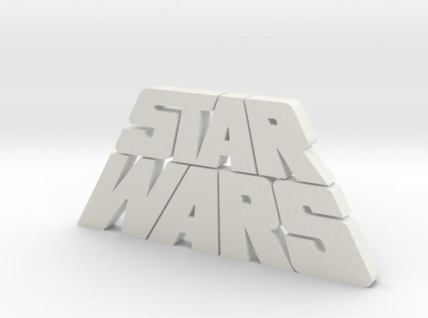 Star Wars Logo 1977 in White Natural Versatile Plastic