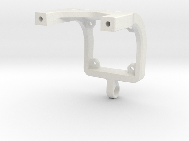 Team Associated B6.1 Chassi Brace V3 in White Natural Versatile Plastic