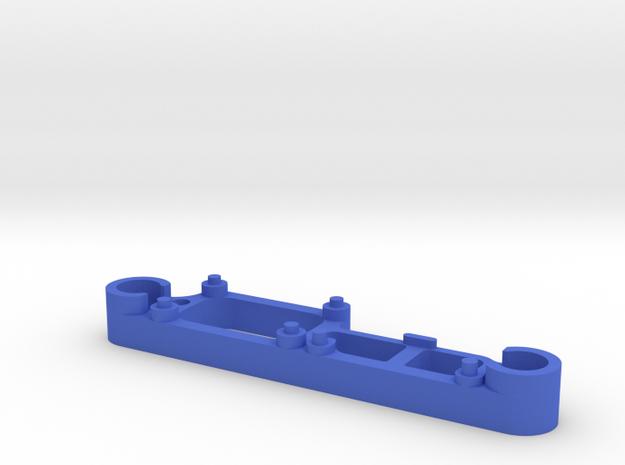 Dual Camera Mount - Back - 2/3 in Blue Processed Versatile Plastic