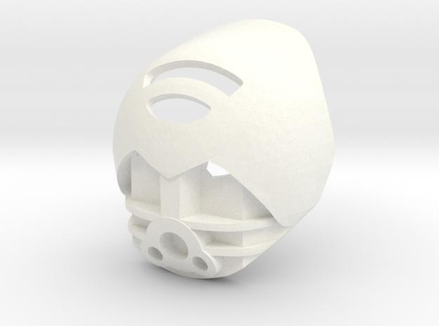 Scopeless Kanohi Akaku in White Processed Versatile Plastic