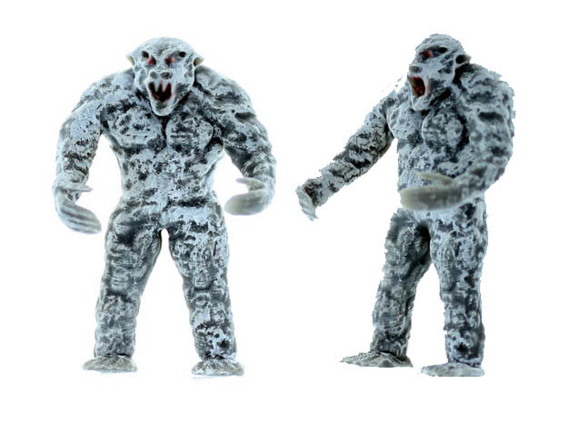 YETI Beast O Scale Detailed Creature in Smooth Fine Detail Plastic