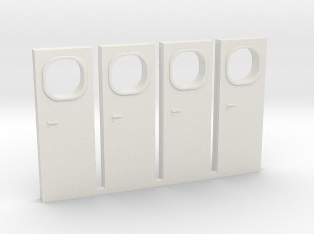 HO Metra F40PH-3 Cab Door in White Natural Versatile Plastic