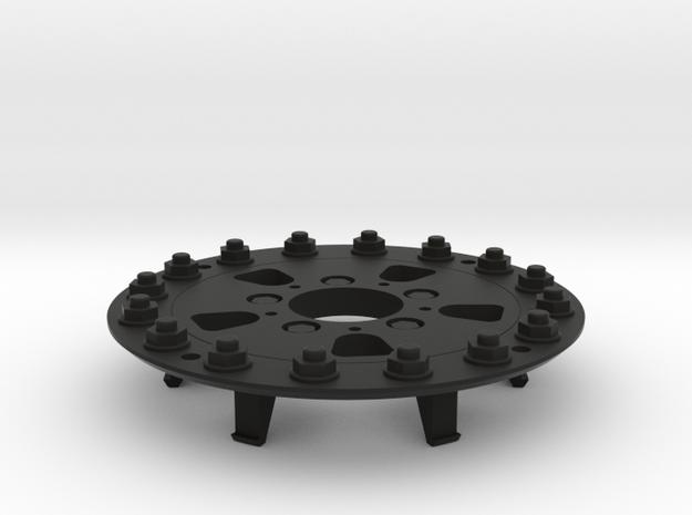 TRX-4 Hutchinson Wheel Cap 16 Nuts - One Piece in Black Natural Versatile Plastic