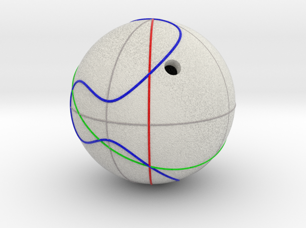 Elliptic Curve Addition on Sphere (1 component) in Natural Full Color Sandstone: Medium